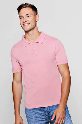 boohoo Soft Touch Knitted Polo