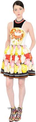 Mary Katrantzou Floral Printed Cotton Jacquard Dress