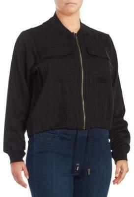 Rachel Roy Plus Ribbed Knit Jacket