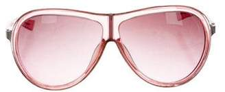 Alexander McQueen Acetate Aviator Sunglasses