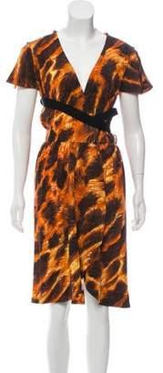 Just Cavalli Knee-Length Wrap Dress