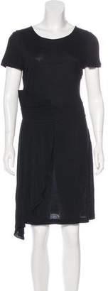 Fendi Asymmetrical Pleated Dress