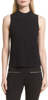 Women's Rag & Bone Ingrid Perforated Knit Top $275 thestylecure.com