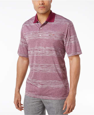 Greg Norman for Tasso Elba Men's Big & Tall Heathered Stripe Performance Sun Protection Golf Polo, Created for Macy's $65 thestylecure.com