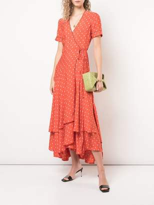 Alexis dot print wrap dress