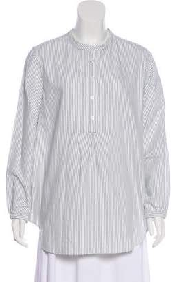 Band Of Outsiders Striped Long Sleeve Top