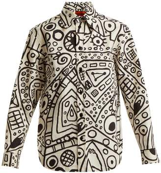 COLVILLE Haring-print poplin shirt