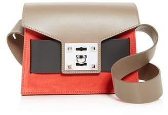 Mila Louise Salar Small Color-Block Suede & Leather Shoulder Bag