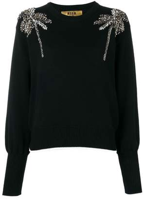 MSGM crystal-embellished sweater