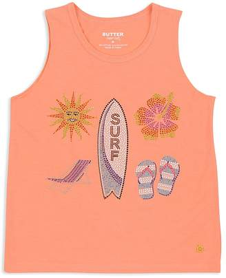 Butter Shoes Girls' Embellished Surf Beach Tank