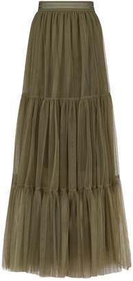 Brunello Cucinelli Tiered Tulle Skirt