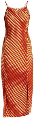 Diane von Furstenberg Whiston stripe-print bias silk-blend dress
