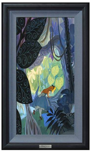 Alice Where Curiosity Grows Limited Edition Framed Wall Art