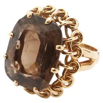 Lydia Courteille Brown Yellow gold Ring