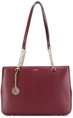 4c4d2c40ad5 Leather Chain Tote Bag - ShopStyle