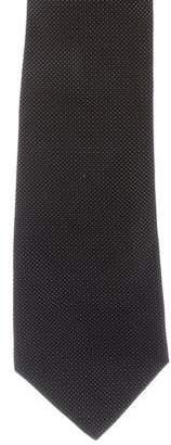 Ralph Lauren Purple Label Dot Print Silk Tie
