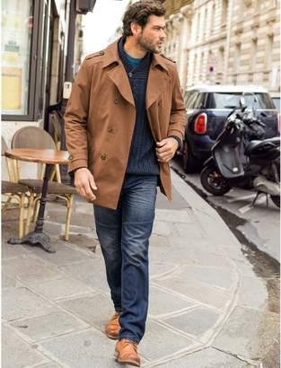 CASTALUNA FOR MEN Short Cotton Twill Trench Coat