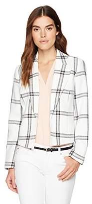 Nine West Women's Plaid Kiss Front Jacket