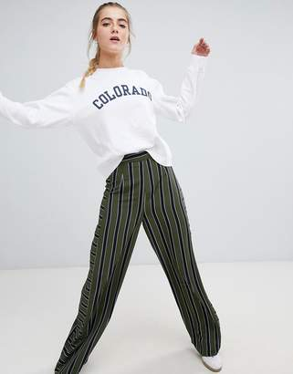 Daisy Street wide leg pants in stripe