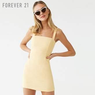 Forever 21 (フォーエバー 21) - Forever 21 リネンブレンドスクエアネックワンピース