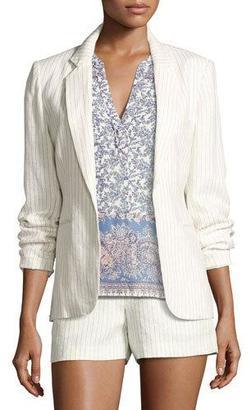 Joie Mehira Pinstripe Blazer, White $298 thestylecure.com