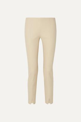 The Row Sorocco Cotton-blend Slim-leg Pants - Beige