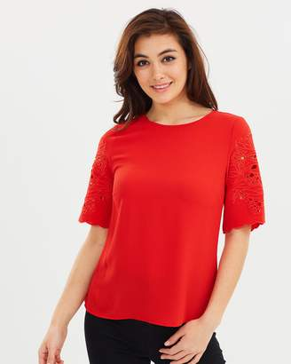Dorothy Perkins Cutwork Sleeve Tee