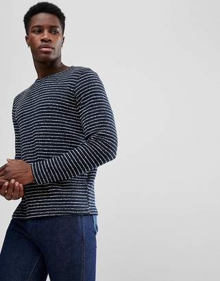 Selected Striped Towelling Sweat