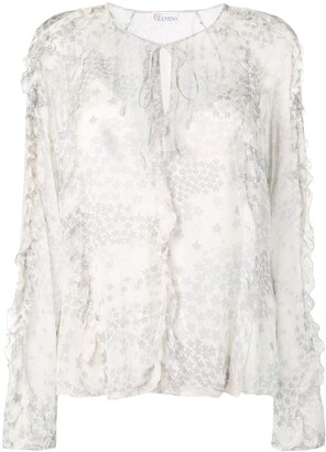 RED Valentino cascading stars printed top