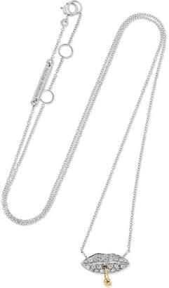 Delfina Delettrez 18-karat White And Yellow Gold Diamond Necklace - White gold