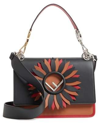Fendi Kan I Century Mix Calfskin Leather Shoulder Bag