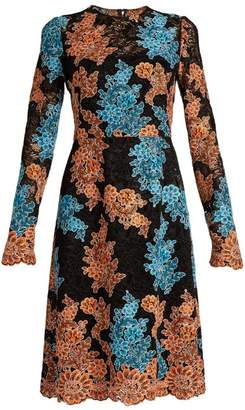 Dolce & Gabbana Floral-embroidered cordonetto-lace dress