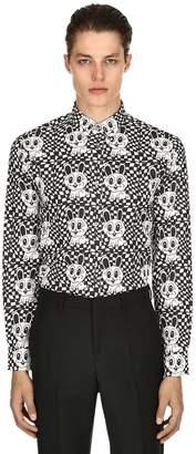 McQ Acid Bunny Printed Cotton Poplin Shirt