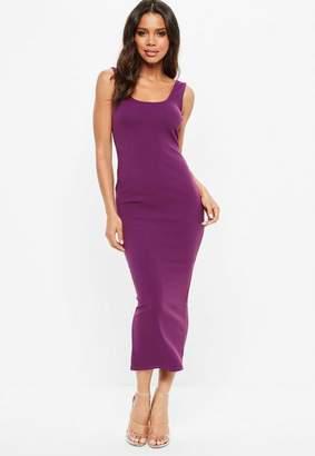 Missguided Purple Ankle Grazer Maxi Dress, Purple