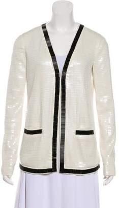 Rachel Zoe Sequined-Accented Evening Jacket