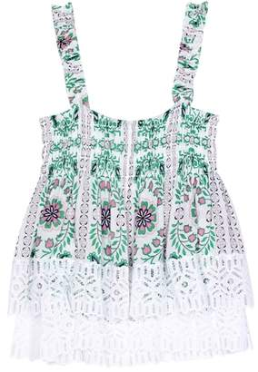 Tory Burch Georgette printed sleeveless top