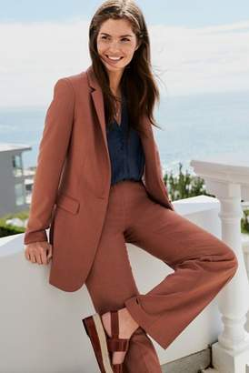 Next Womens Rust Wide Fit Trousers