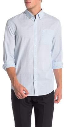 Original Penguin Clipped Dobby Micro Check Print Slim Fit Shirt
