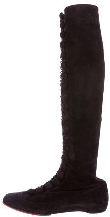 Christian Louboutin Christian Louboutin Suede Round-Toe Boots