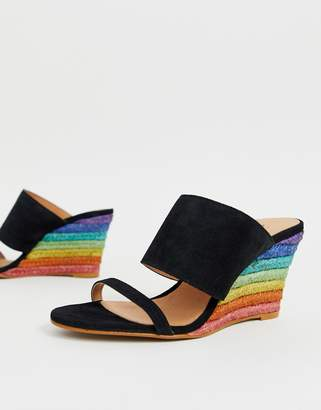 Free People Glorietta rainbow heeled wedge