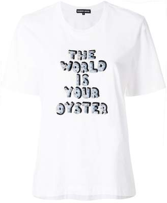 Markus Lupfer short sleeved slogan T-shirt