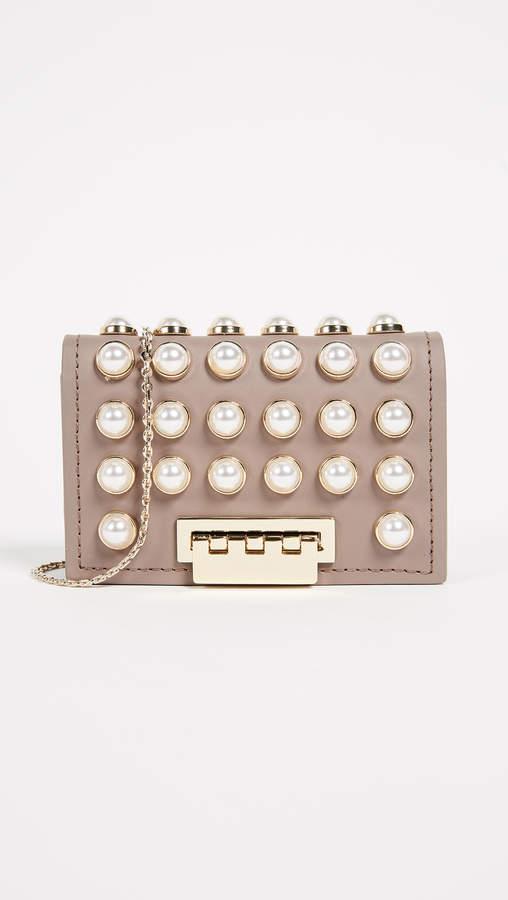 ZAC Zac Posen Pearl Lady Earthette Card Case with Chain