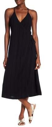 MinkPink Sienna Midi Woven Wrap Dress