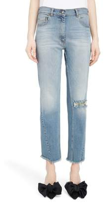 Magda Butrym Curved Seam Straight Leg Jeans