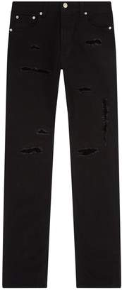 Alexander McQueen Shredded Slim Fit Jeans
