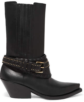Zimmermann Studded Leather Boots - Black