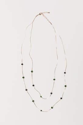 H&M Double-strand Necklace - Black