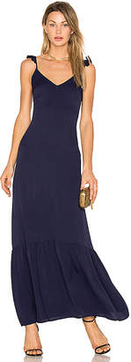 Line & Dot Vella Frill Maxi Dress in Navy $89 thestylecure.com