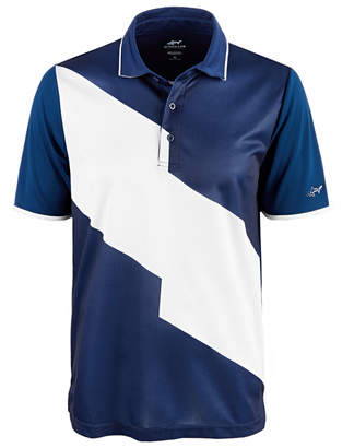Greg Norman Attack Life by Men's Powell Colorblocked Polo