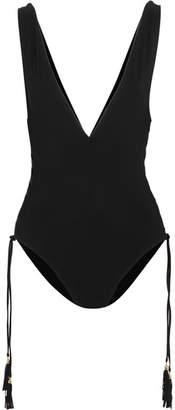 Zimmermann Divinity Lace-up Swimsuit - Black
